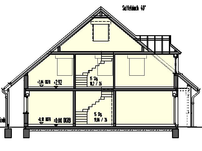 Schnittzeichnung Haus scholz massivhaus gmbh